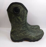 Menand039sherman Survivorscamosize 13rubber Waterproof Hunting/fishing Boots.