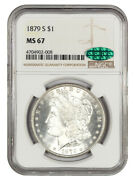 1879-s 1 Ngc/cac Ms67 Reverse Of 1879 - Morgan Silver Dollar - Gorgeous