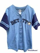Vintage Freeze Y2k Betty Boop Diner Shirt Baseball Jersey Embroidered 2001 Small