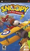 Snoopy Vs. The Red Baron Sony Playstation Psp Complete With Manual Cib