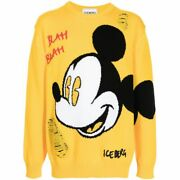Iceberg Mens Knit Sweater Tops Mickey Mouse