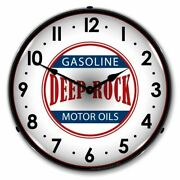 Collectible Sign And Clock-1012275 Deep Rock Gas Clock - Made In Usa