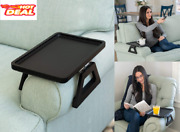 Signature Home Clip On Tray Sofa Table For Wide Couches Couch Arm Tray Black New