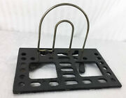 Antique Patented 1906 Desk Letter Holder Industrial Style Office Accessory