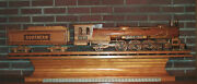 Antique Hand-made Folkart Model Locomotive And Tender -- From Museum