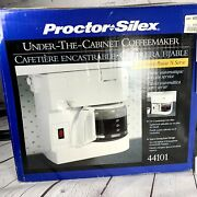 Proctor Silex Under Cabinet Coffee Maker 10 Cup New Open Box 44401 Spacesaver