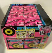 Case Of 12 Lol Surprise Remix Hair Flip Dolls - 15 Surprises With Display New