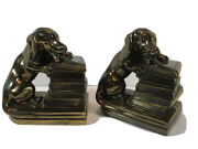 Antique Jb 1700 Jennings Brothers Bronze Metal Dachshund Weiner Dog Bookends
