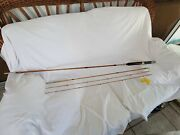 Vintage Bamboo 10 Foot 3-piece Silver Ornate Trimmed Fly Rod