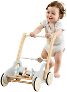 Labebe Push Walker Stroller Toys ,pull Wagon For Kid,gray Animal-push Toy For To