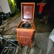 1915 Vv-xi Victor Victrola Antique Phonograph Cabinet Record Player