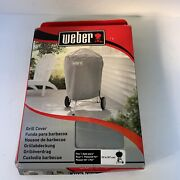 Weber Charcoal Kettle Grill Cover All Weather Fabric Storage Outdoor - 22 Inch