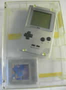 Game Boy Pocket Silver + Original Clear Box And Tetris. Tested See Pics Nice