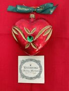 Waterford Ornament Christmas Red Ashling Heart