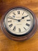 Antique Wooden Gents Of Leicester Wall Clock