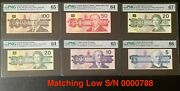 Canada 🇨🇦 1986-1991 - Set Of Matching Low Serial 0000788 Bird Series - All Unc