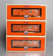Lionel 6-11872 O Scale Pacific Fruit Express Reefer Car Pack Of 3 Ex/box