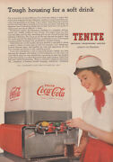 Tough Housing For A Soft Drink Coca-cola Dispenser By Tenite Ad 1957 Nw