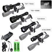 850nm/940nm Zoomable Laser Infrared Ir Led Hunting Light Night Vision Gun Torch
