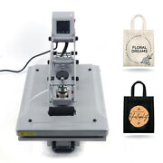 T-shirt Heat Press Sublimation Hot Stamping Machine 1519 W/ Lcd Display