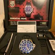 Luminox 1513 Deep Dive Automatic Menand039s Watch Near Mint Condition