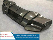 Carbon Fiber Side Rear Diffuser Bumpers For Lp580 Lp610 Msy Style