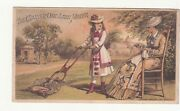 Charter Oak Lawn Mower Mother Sewing Mcintosh Good And Co Cleveland Card C1880s