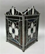Fine Hand-made Stained Glass Table Ornament For Candles