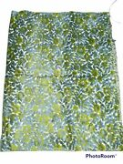 Vintage Mcm Cut Velvet Blue And Green Floral Chenille Upholstery Fabric 54x42andrdquo