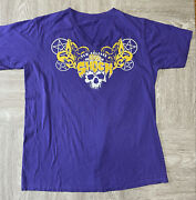Vintage House Of Shock Haunted House New Orleans Purple/gold Horror Shirt Large