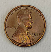 1928 Lincoln Wheat Back Cent One Penny Gold And Red Toning Circulated Us Coin