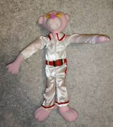 Vintage 10' Inch Pink Panther Plush Doll Evil Knievel Outfit