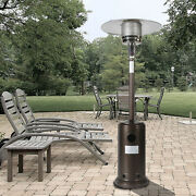 Outdoor Patio Heater Propane 46000btu Hammered Bronze With Wheels Hose Set Cover