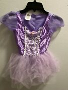 Disney Sofia The First Costume Dress And Matching Shoes Childs Girls Size 4-6x