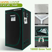 Mars Hydro 3and039 X 3and039 X 6and039 Indoor Grow Tent Room Box For Indoor Plant Home Tent