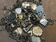 4 Vintage Sterling Silver Charm Bracelets And Charms 122 Grams 925 Sterling Silver
