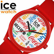 Ice Watch X Coca-cola Collaboration Unisex Team Red White W/limited Case F/s New