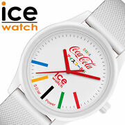 Ice Watch X Coca-cola Collaboration Unisex Team White W/limited Case F/s New