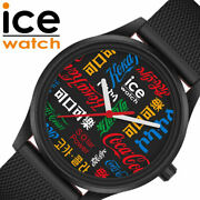 Ice Watch X Coca-cola Collaboration Unisex Black W/limited Case Free Shipping