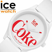 Ice Watch X Coca-cola Collaboration Unisex White W/limited Case Free Shipping