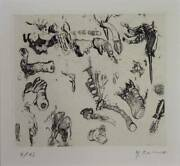 Kano Mitsuo Japanese Copper Engraving Art 1959 No5 1959 Ed23 Signed Framed