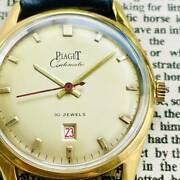 1950and039s Piaget Automatic Date Vintage Menand039s Wrist Watch Made By Swiss
