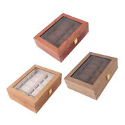 10 Slots Vintage Wood Watch Box Jewelry Display Case Wooden Watch Organizer With