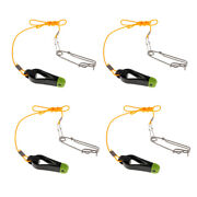 4pcs Outrigger Power Grip Snap Release Clip W/ Leader For Boat Fishing