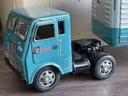 Vintage Transcon Lines Toy Friction Twin Trailers Tin Truck - Collectible