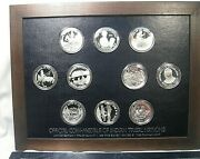 1973-74 Franklin Mint Official Coin-medals Of Indian Tribal Nations .999 Silver.