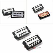 Double Coil Hh Humbucker Guitar Bridge Neck Pickup Curved Frame For Lp Sg