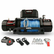 13000lbs Electric Winch Synthetic Rope Wireless Remote Waterproof Winch Ip67
