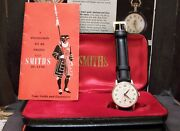 Antique Vintage 1962 Smiths Solid Gold Deluxe Watch Rare With Box And Papers 15 J