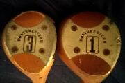 Vintage Northwestern Golf Clubs - 1 Wood And 3 Wood Right Handed